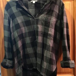 Gap plaid button down shirt